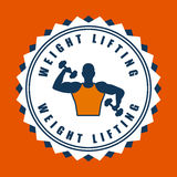 Weight lifting design. Weight lifting graphic design , vector illustration Royalty Free Stock Image