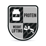 Weight lifting design. Weight lifting graphic design , vector illustration Royalty Free Stock Photo