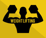 Weight lifting design. Weight lifting graphic design , vector illustration Royalty Free Stock Images