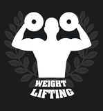Weight lifting. Design, vector illustration eps10 graphic Stock Photos