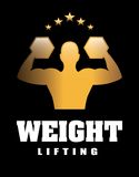 Weight lifting. Design, vector illustration eps10 graphic Royalty Free Stock Photography