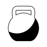 Weight lifting equipment icon Royalty Free Stock Images