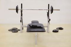 Weight lifting equipments Stock Photo