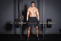 Weight lifting fitness training man Royalty Free Stock Images