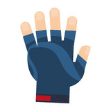 weight lifting gloves icon Stock Images
