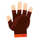 weight lifting gloves icon Royalty Free Stock Image