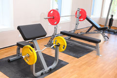Weight lifting gym Stock Images