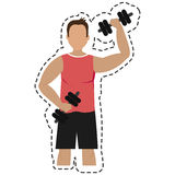 Weight lifting gym isolated icon vector illustration