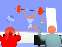 Weight_lifting_new_7 Royalty Free Stock Photo