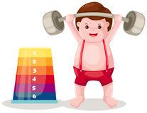Weight lifting player Royalty Free Stock Photography