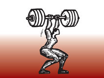 Weight lifting player Royalty Free Stock Images