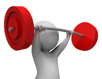 Weight Lifting Represents Physical Activity And Empowerment 3d Rendering. Weight Lifting Showing Workout Equipment And Physique 3d Rendering Stock Images