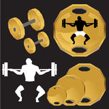 Weight lifting set Stock Photo