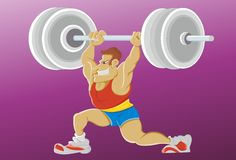 Weight Lifting Technique Royalty Free Stock Images