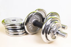Weight lifting weights Royalty Free Stock Photos