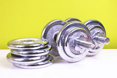 Weight lifting weights Stock Photo