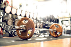 Weight in light gym room Royalty Free Stock Photography