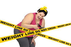 Weight line do not cross Royalty Free Stock Photos