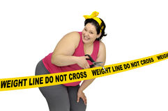 Weight line do not cross Stock Image