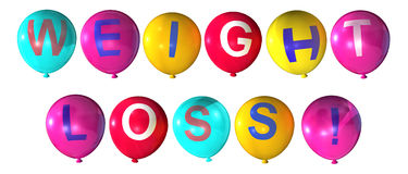 Weight loss. Word in abstract balloons Stock Image
