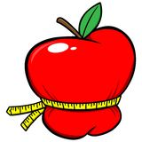 Weight Loss Apple. A vector illustration of a Weight Loss Apple Stock Photography