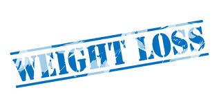 Weight loss blue stamp. On white background Royalty Free Stock Photo