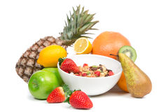 Weight loss breakfast concept with fruits Royalty Free Stock Photography