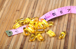 Weight loss capsules Royalty Free Stock Photo