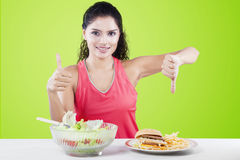 Weight Loss And Choice Concept Royalty Free Stock Photo