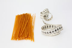 Spaghetti and Measuring Tape Stock Images