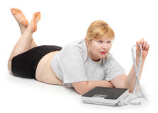 Weight loss concept. Royalty Free Stock Photography