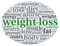 Weight loss  concept in tag cloudcloud Royalty Free Stock Photography