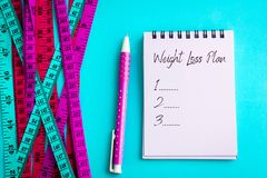 Weight loss and Diet control concept background. Colorful of a M Royalty Free Stock Image