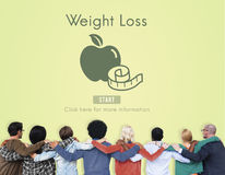 Weight Loss Diet Fitness Exercise Healthy Lifestyle Concept Royalty Free Stock Image