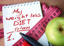 Weight loss diet plan Stock Photos