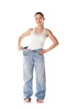 Weight loss female Stock Photo