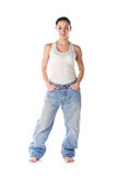 Weight loss female Royalty Free Stock Photos