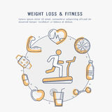 Weight Loss and Fitness Elements. Stock Image