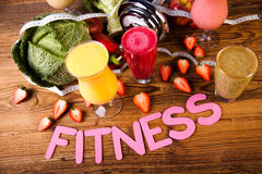 Weight loss, fitness, healthy and fresh Stock Images