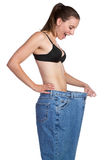 Weight Loss Girl Royalty Free Stock Photos