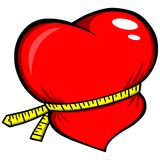 Weight Loss Heart. A vector illustration of a Weight Loss Heart Royalty Free Stock Image
