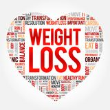 WEIGHT LOSS heart word cloud stock illustration