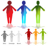 Weight Loss Icon Set. An image of a weightloss figure icon set Stock Photography