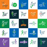 Weight loss icons Royalty Free Stock Images
