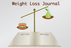 Weight loss journal Royalty Free Stock Photo