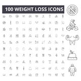 Weight loss line icons, signs, vector set, outline illustration concept. Weight loss line icons, signs, vector set, outline concept illustration royalty free illustration