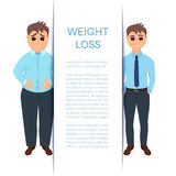 Weight loss of a man Royalty Free Stock Photography