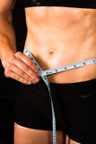 Weight loss measure stomach belly Stock Image
