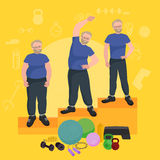 Before and after weight loss men concept fitness vector illustration Stock Photo