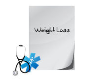 weight loss paper sign message Royalty Free Stock Photo